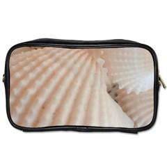 Sunny White Seashells Travel Toiletry Bag (one Side)