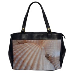 Sunny White Seashells Oversize Office Handbag (One Side)