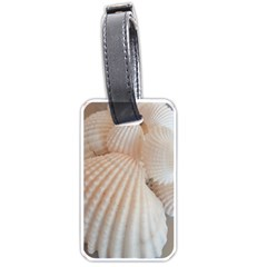 Sunny White Seashells Luggage Tag (Two Sides)