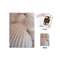 Sunny White Seashells Playing Cards (mini)