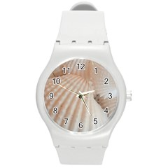 Sunny White Seashells Plastic Sport Watch (Medium)