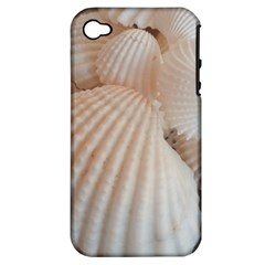 Sunny White Seashells Apple iPhone 4/4S Hardshell Case (PC+Silicone)