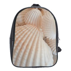 Sunny White Seashells School Bag (XL)