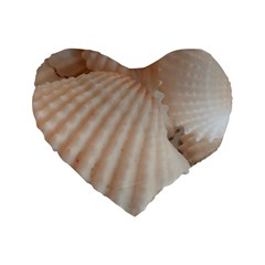 Sunny White Seashells Standard 16  Premium Heart Shape Cushion