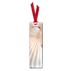 Sunny White Seashells Small Bookmark