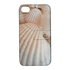 Sunny White Seashells Apple iPhone 4/4S Hardshell Case with Stand