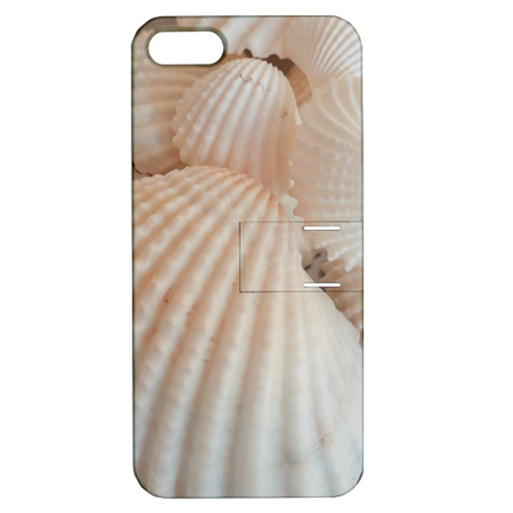 Sunny White Seashells Apple iPhone 5 Hardshell Case with Stand
