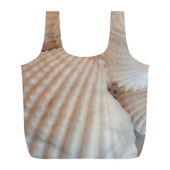 Sunny White Seashells Reusable Bag (l)