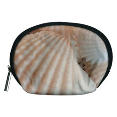 Sunny White Seashells Accessory Pouch (Medium)