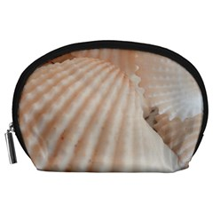 Sunny White Seashells Accessory Pouch (large)