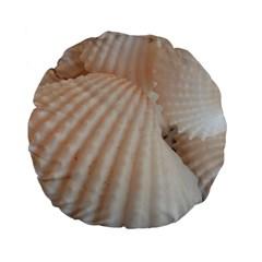 Sunny White Seashells Standard 15  Premium Flano Round Cushion