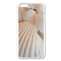 Sunny White Seashells Apple iPhone 6 Plus Enamel White Case