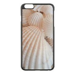 Sunny White Seashells Apple Iphone 6 Plus Black Enamel Case