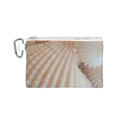 Sunny White Seashells Canvas Cosmetic Bag (Small)