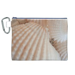 Sunny White Seashells Canvas Cosmetic Bag (XL)