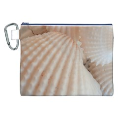 Sunny White Seashells Canvas Cosmetic Bag (XXL)