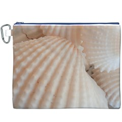Sunny White Seashells Canvas Cosmetic Bag (xxxl)