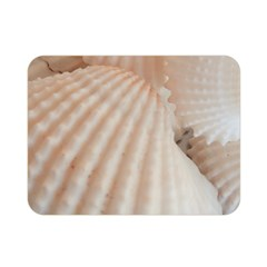 Sunny White Seashells Double Sided Flano Blanket (Mini)