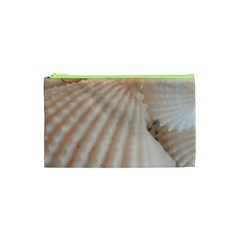 Sunny White Seashells Cosmetic Bag (xs)