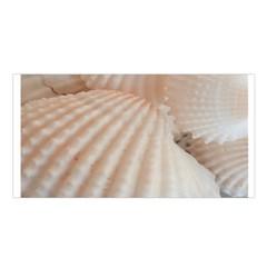 Sunny White Seashells Satin Shawl
