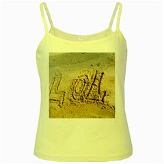 Lol Yellow Spaghetti Tank