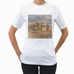 #BFF Women s Two-sided T-shirt (White)