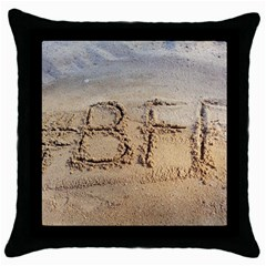 #bff Black Throw Pillow Case