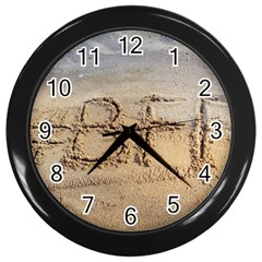 #bff Wall Clock (black)