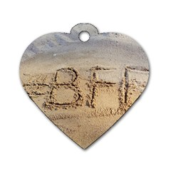 #bff Dog Tag Heart (two Sided)