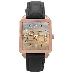 #BFF Rose Gold Leather Watch