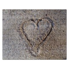 Heart in the sand Jigsaw Puzzle (Rectangle)