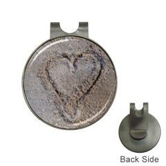 Heart In The Sand Hat Clip With Golf Ball Marker