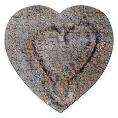 Heart In The Sand Jigsaw Puzzle (heart)