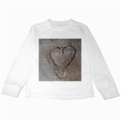Heart In The Sand Kids Long Sleeve T Shirt