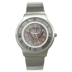 Heart In The Sand Stainless Steel Watch (slim)