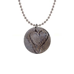 Heart In The Sand Button Necklace