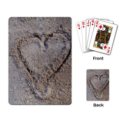Heart In The Sand Playing Cards Single Design
