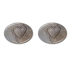 Heart In The Sand Cufflinks (oval)