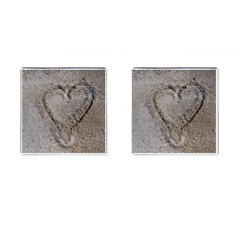 Heart In The Sand Cufflinks (square)