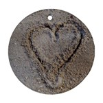 Heart in the sand Round Ornament (Two Sides) Back