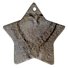 Heart In The Sand Star Ornament (two Sides)