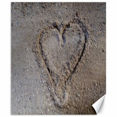 Heart In The Sand Canvas 8  X 10  (unframed)