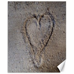 Heart In The Sand Canvas 16  X 20  (unframed)