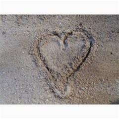 Heart In The Sand Canvas 18  X 24  (unframed)