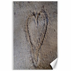 Heart In The Sand Canvas 24  X 36  (unframed)