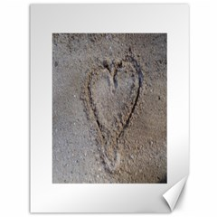 Heart In The Sand Canvas 36  X 48  (unframed)