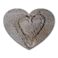 Heart In The Sand Mouse Pad (heart)