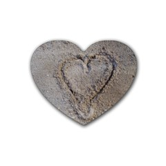 Heart In The Sand Drink Coasters 4 Pack (heart)