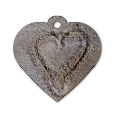 Heart In The Sand Dog Tag Heart (two Sided)
