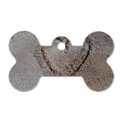 Heart In The Sand Dog Tag Bone (two Sided)
